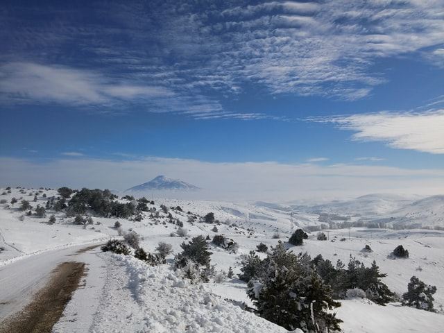 A combination of hot and cold in Altınkale in Sivas